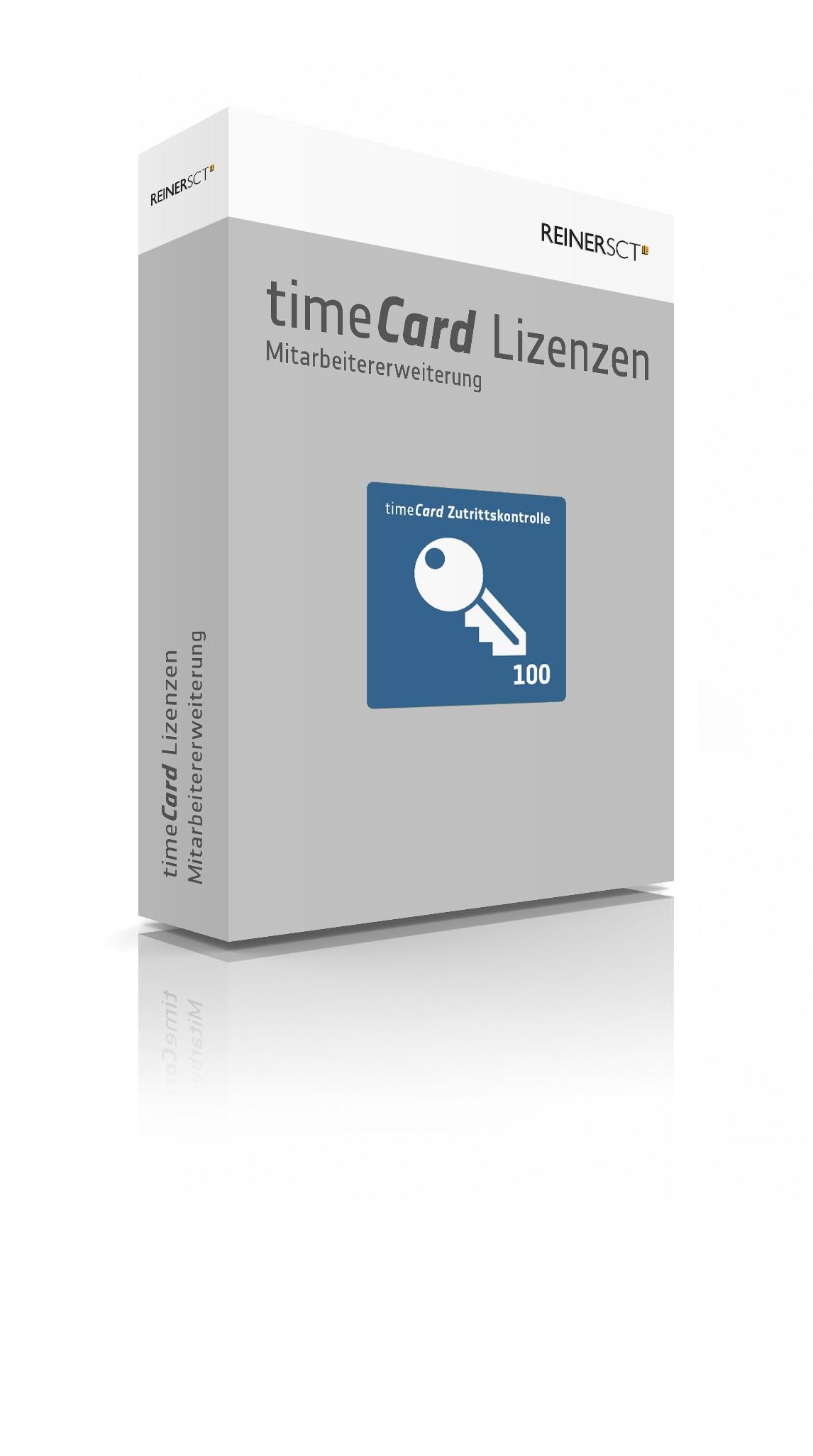 REINER SCT timeCard 6 ZuKo Erweiterung 100 Mitarbeiter, Lizenz