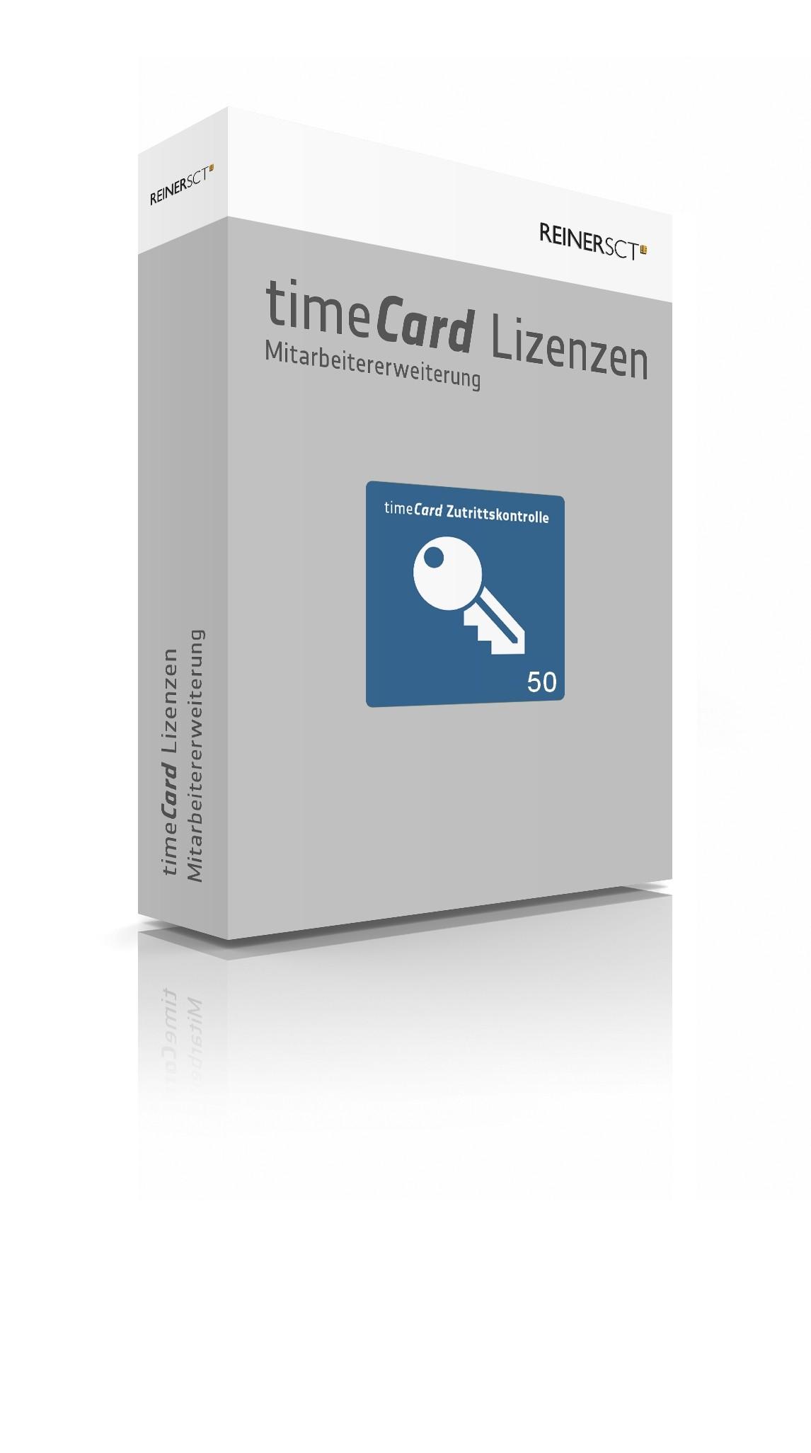 REINER SCT timeCard 6 ZuKo Erweiterung 50 Mitarbeiter, Lizenz