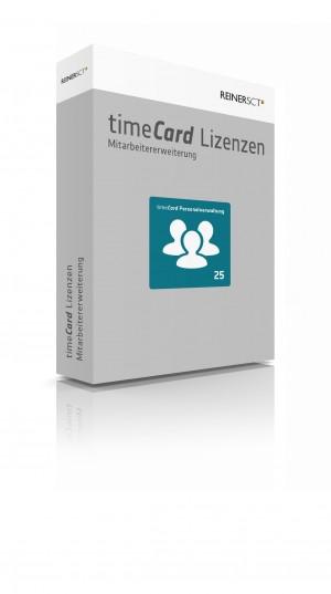 timeCard Personalverwaltung Erweiterung um 25 Mitarbeiter